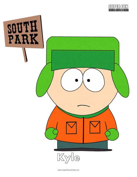 Kyle South Park Coloring Page