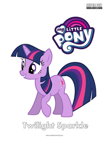 Twilight Sparkle My Little Pony Coloring Page Super Fun Coloring