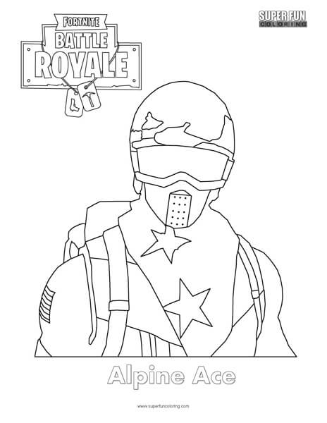 Alpine Ace Skin Fortnite Coloring Page Super Fun Coloring