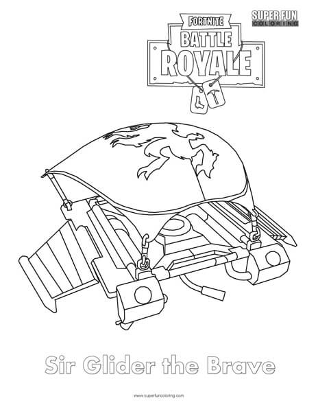 Sir Glider the Brave Coloring Page