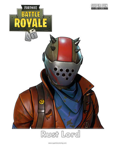 Rust Lord Fortnite Coloring Page Super Fun Coloring