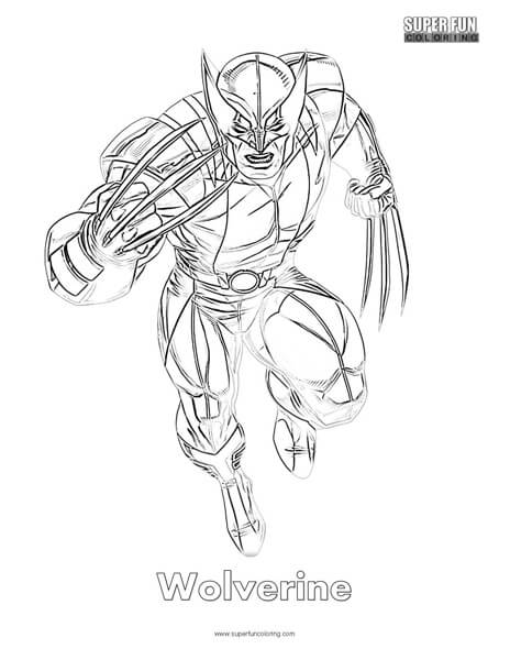 Wolverine Coloring Page Super Fun Coloring