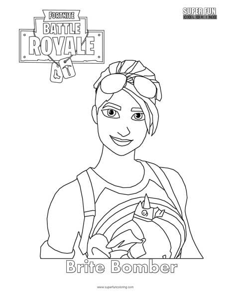 Brite Bomber Fortnite Coloring Page Super Fun Coloring