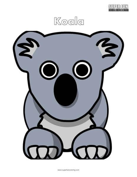 Cartoon Koala Coloring Page Free