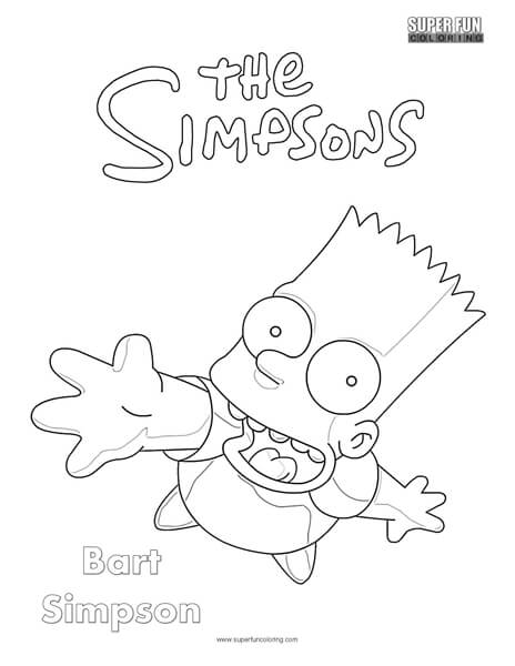 Bart Simpson The Simpsons Coloring Page Super Fun Coloring