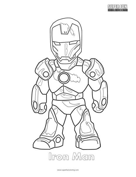 Iron Man Coloring Page Super Fun Coloring