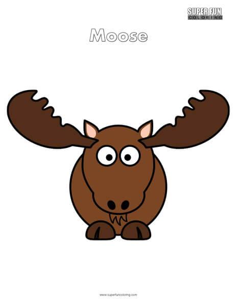 Cartoon Moose Coloring Page Free