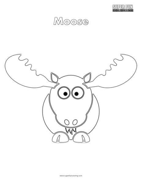 Cartoon Moose Coloring Page