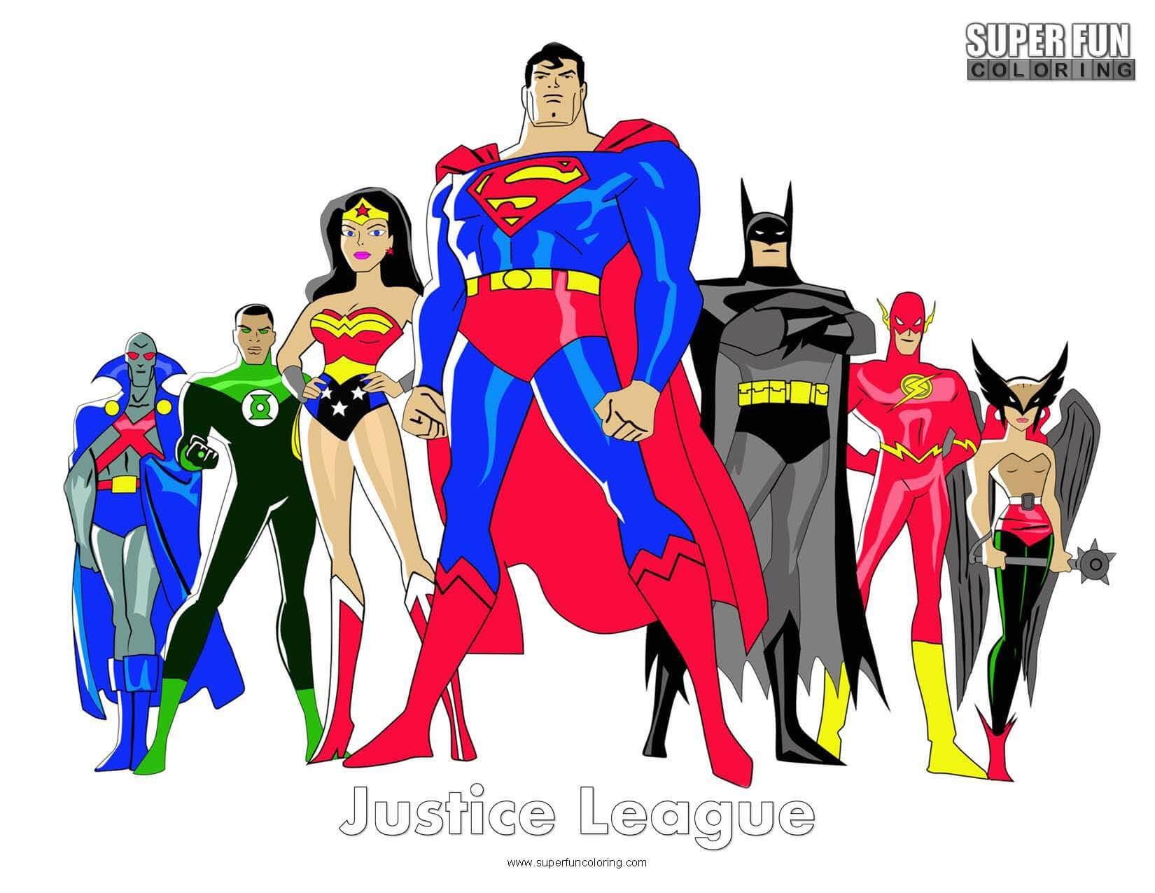 Justice League Coloring Page - Super Fun Coloring