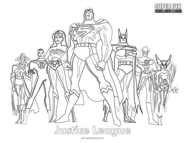 Justice League Coloring Page Animals
