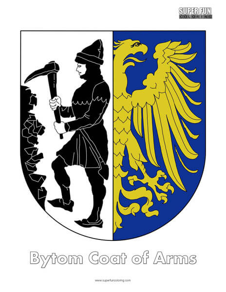 Bytom Coat of Arms Coloring