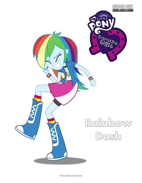 Equestria Girls Rainbow Dash Coloring