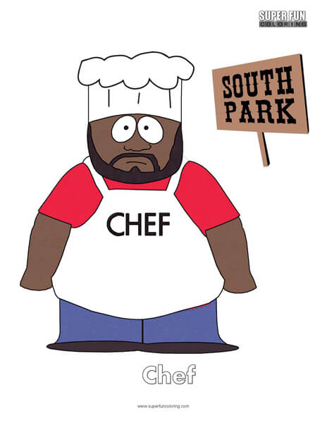 Chef South Park Coloring Page
