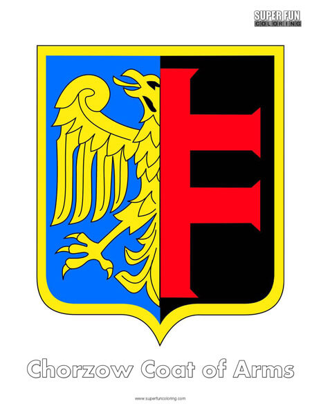 Chorzow Coat of Arms Coloring