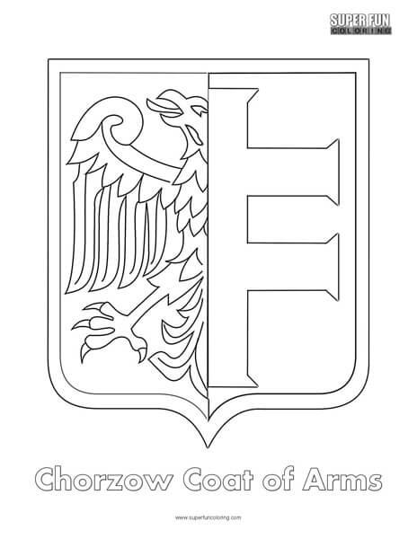 Coat of Arms Coloring Super Fun Coloring