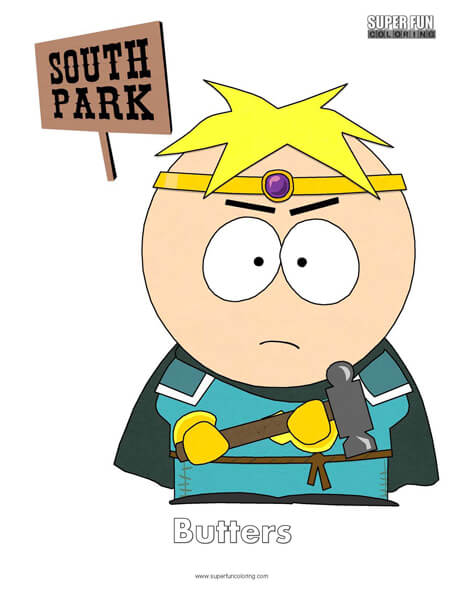 Butters South Park Coloring Page