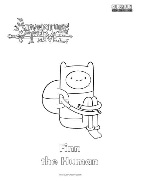 Finn- Adventure Time Coloring Page - Super Fun Coloring