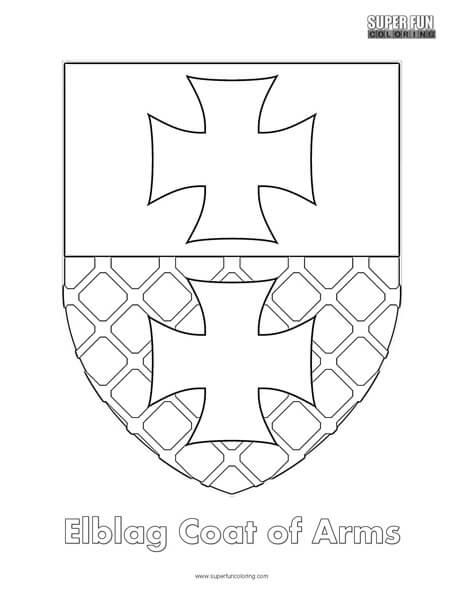Coat of Arms Coloring Super Fun