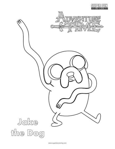 Jake the Dog- Adventure Time Coloring Page - Super Fun Coloring