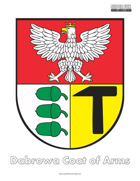 Dabrowa Coat of Arms Coloring