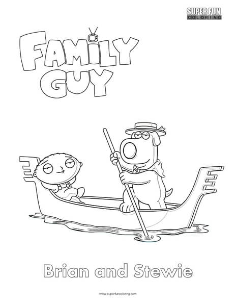 brian and stewie family guy coloring page super fun coloring