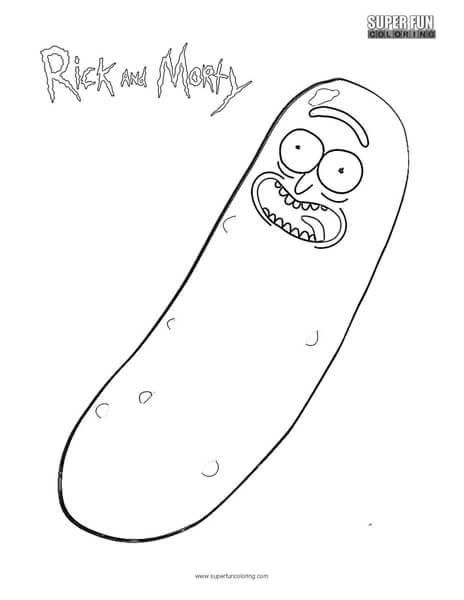 Pickle Rick And Morty Coloring Page