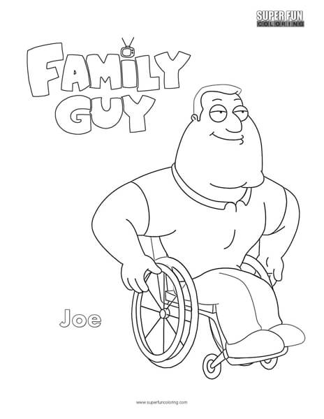 Joe- Family Guy Coloring Page - Super Fun Coloring