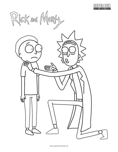 Rick and Morty Coloring Page