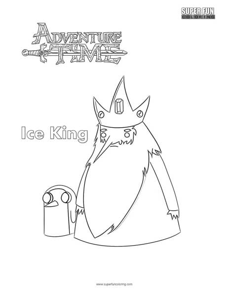 Ice King Adventure Time Coloring Page Super Fun Coloring