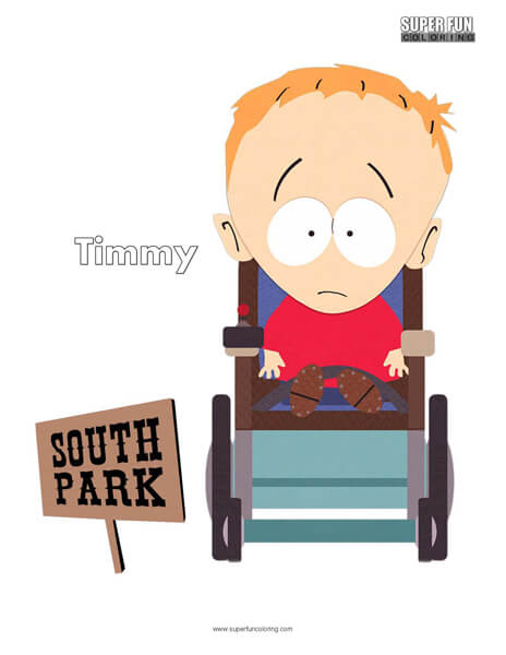 Timmy South Park Coloring Page