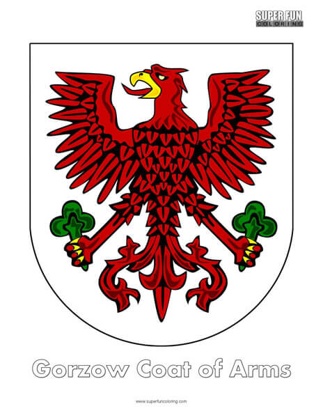 Gorzow Coat of Arms Coloring