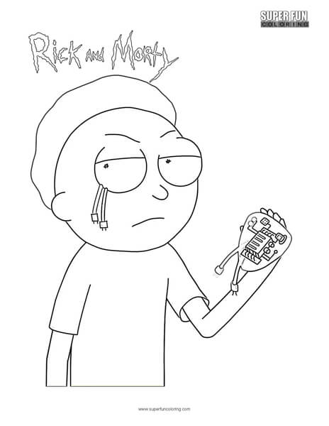 Evil Morty Rick and Morty Coloring Page Super Fun Coloring