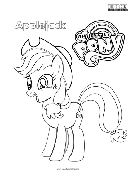 Applejack  My Little Pony Coloring Page ...