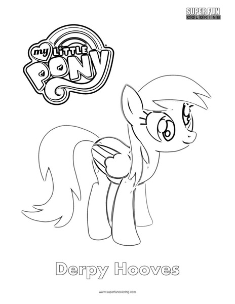 derpy hooves- my little pony coloring page