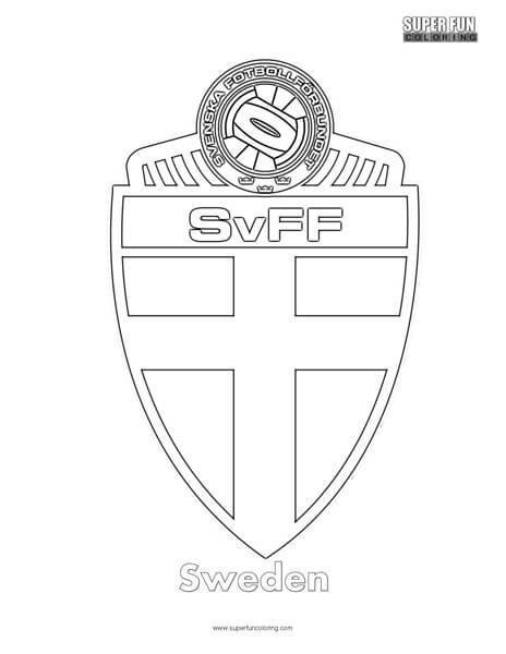 Sweden Football Coloring Page Super Fun Coloring