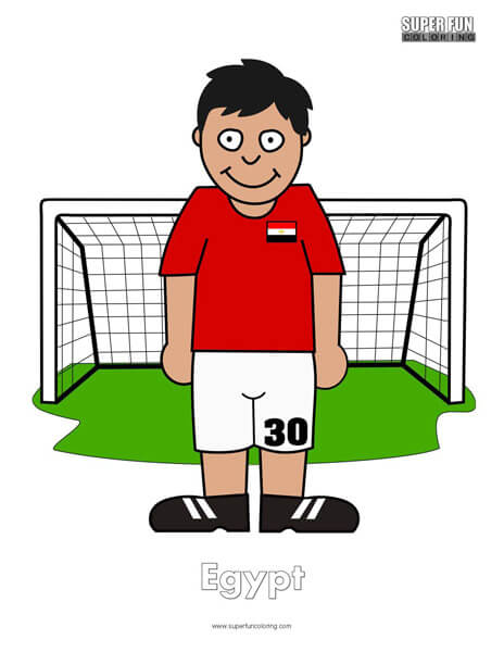 Egypt Cartoon Football Coloring Page