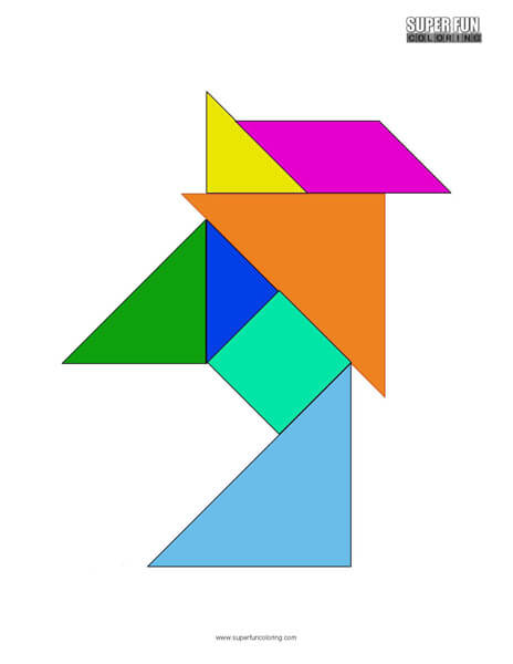 Tangram Coloring Sheet Free