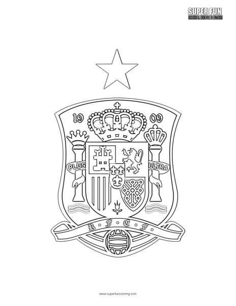 Spain Football Coloring Page Super Fun Coloring