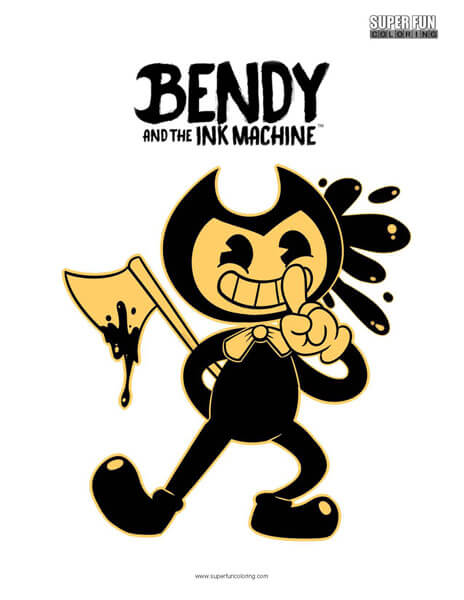 picture regarding Bendy and the Ink Machine Coloring Pages Printable identify Bendy and the Ink System Coloring Site - Tremendous Pleasurable Coloring