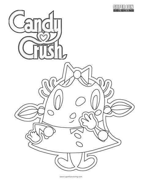 Candy Crush Coloring Page Super Fun Coloring