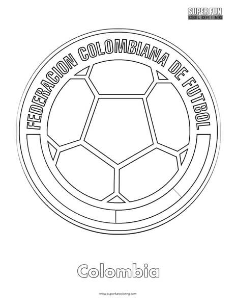 colombia football coloring page