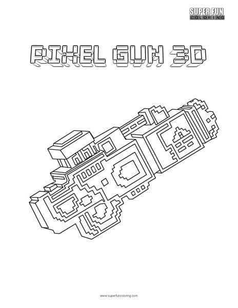 Pixel Gun 3d Coloring Page Super Fun Coloring