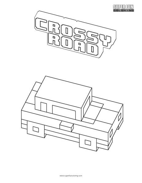 Crossy Road Coloring Page Super Fun Coloring