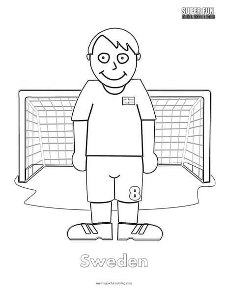 Sweden Football Coloring Page