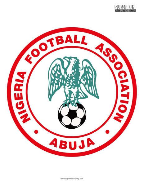 Nigeria Football Coloring Page