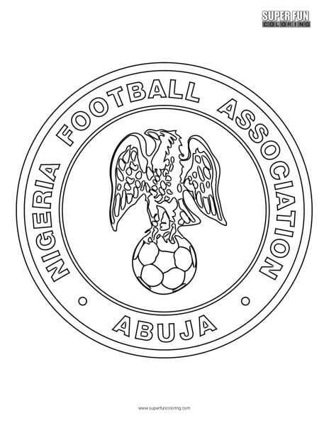 nigeria football coloring page