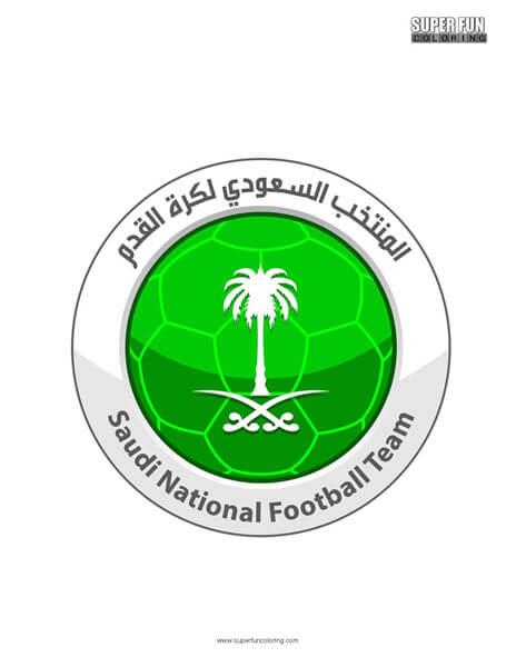 Saudi Arabia Football Coloring Page
