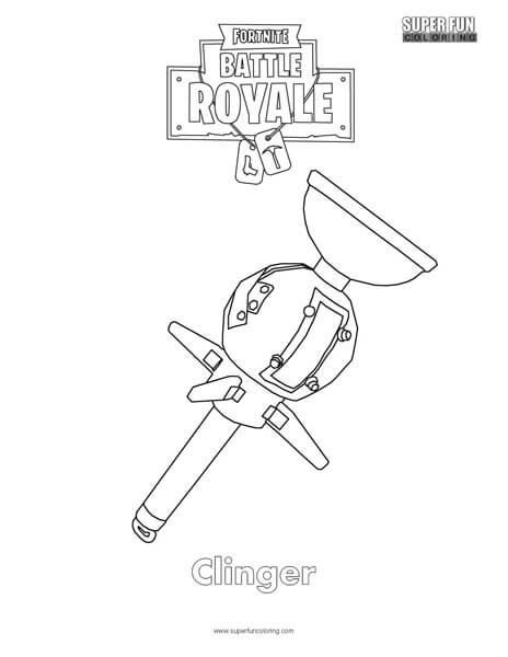 fortnite weapon coloring pages pictures to pin on