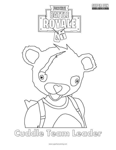 Cuddle Team Leader Fortnite Coloring Page Super Fun Coloring
