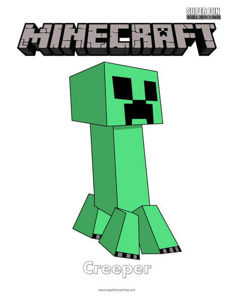 Minecraft Coloring Super Fun